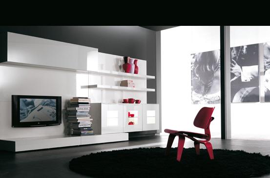 Arredamento zona giorno verardo libreria kronos for Arosio arredamenti